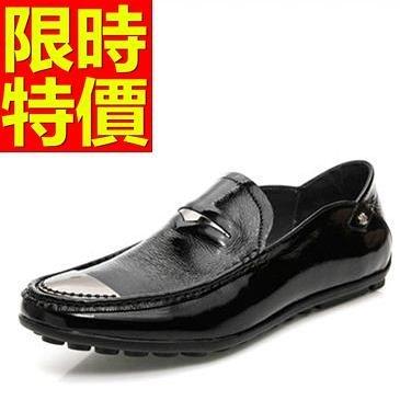 男皮鞋-百搭魅力懶人休閒男樂福鞋2色59p22[巴黎精品]