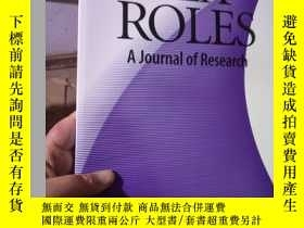 二手書博民逛書店SEX罕見ROLES;A Journal of Research