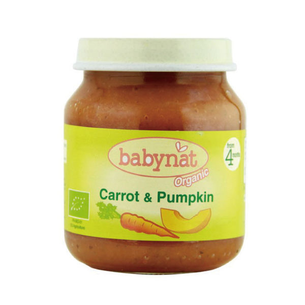 BABYBIO 有機南瓜紅蘿蔔蔬菜泥/果泥130ml (4個月以上適用)