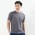 男款排汗T  CoolMax 吸濕快乾 機能涼感 舒適運動 灰色