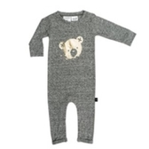 兒童連身衣 幼童連身 有機棉 澳洲 HUXBABY 有機棉連身衣 - 金色小熊