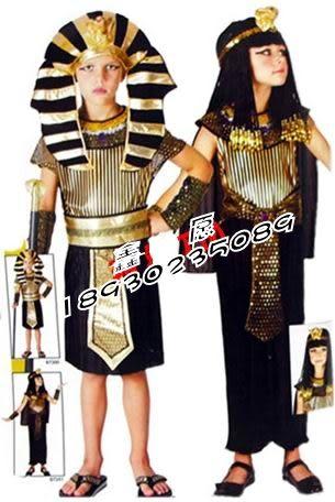 萬聖節埃及法老衣服埃及法老埃及王子服裝兒童埃及王子衣服   單1 價
