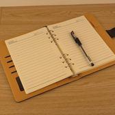 商務辦公活頁筆記本 6孔A5活頁芯 可自由換內頁紙 仿皮質 歐韓時代