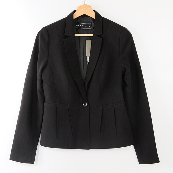 【MASTINA】造型下擺西裝外套-黑 冬末好康