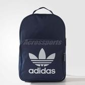 adidas 後背包 Originals Trefoil 深藍 白 三葉草 包包 男女款 【ACS】 BK6724