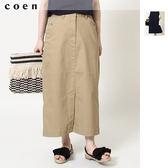 彈性修身 長窄裙 後鬆緊 現貨 免運費 日本品牌【coen】