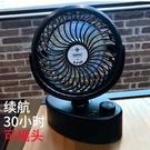 自動可搖頭電動電池小電風扇迷你可充電靜音辦公室桌上插頭便攜式 依凡卡時尚