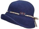 DAKS【日本代購】羊毛女士帽 秋冬款 日本製 藏青色-D8115