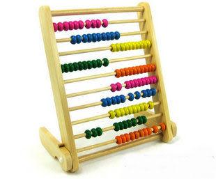 木制玩具 10檔珠算架計算架 兒童早教玩具 智力算術玩具