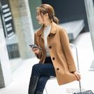 雙面絨大衣中老年女裝秋冬新款媽媽裝羊毛呢子韓版雙面呢大碼外套