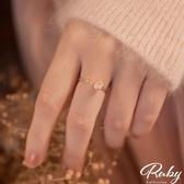 戒指 韓國直送‧蛋白石蝴蝶花朵指環戒指-Ruby s 露比午茶