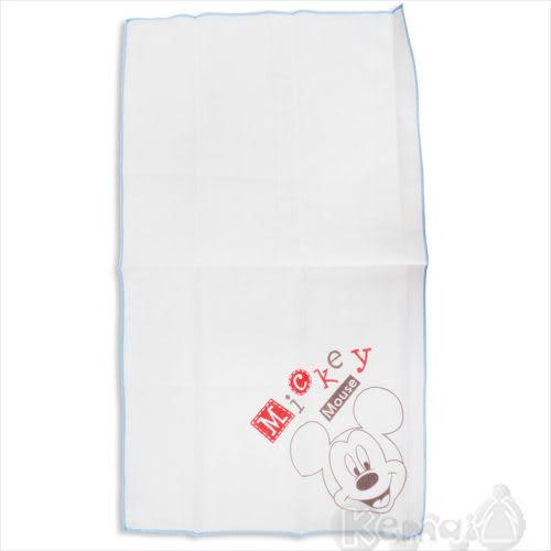 【奇買親子購物網】迪士尼Mickey米奇紗布澡巾(藍色/粉色)