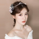 婚紗名店指定款新品新娘造型頭飾韓式仿真花...
