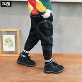 左西男童加絨牛仔褲兒童褲子冬裝2019新款棉褲加厚冬季中大童潮