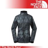 【The North Face 美國 女 防風防潑水外套/L《黑色印花》】3GEJ/防潑水/印花/外套/風衣/休閒★滿額送