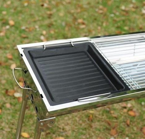 燒烤盤韓式烤肉盤戶外木炭爐不粘煎盤長方形微波爐電磁爐通用工具 歐韓時代