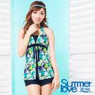 【夏之戀SUMMER LOVE】淑女印花三件式泳衣-S17724