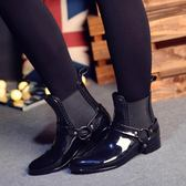 春秋夏季潮水鞋雨鞋女韓國時尚防滑短筒雨靴鬆緊雨鞋高檔防水膠鞋 降價兩天