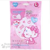 〔小禮堂〕Hello Kitty 成人立體不織布口罩《5入.白.蝴蝶結.點點.滿版》感冒對策用品 4710482-07865
