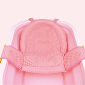 嬰兒浴盆支架  嬰兒洗澡浴網通用新生兒防滑可調節T形浴盆支架沐浴寶寶洗澡網兜  米娜小鋪