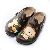 【Jingle】森林童趣前包後空軟木休閒鞋(質感咖大人款)