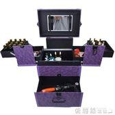 拉桿化妝工具箱專業多層紋繡美甲跟妝箱可拆萬向輪紋眉收納箱 【老闆大折扣】LX