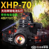 小野人P70頭燈強光充電超亮礦燈夜釣魚戶外頭戴式疝氣燈led變焦小 生活樂事館