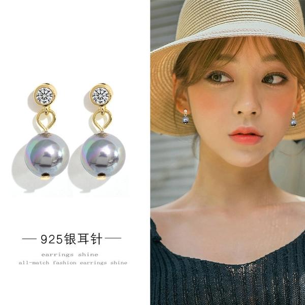 【免運到手價$98】巴洛克風人造珍珠耳釘女氣質韓國名媛優雅大氣耳環耳墜
