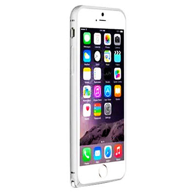LOVE MEI iPhone6 Plus 簡約輕薄海馬扣金屬邊框 銀