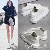 小白鞋女夏季2018新款百搭韓版透氣學生厚底內增高西班牙小眾女鞋