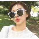 現貨-韓國ulzzang原宿復古墨鏡爆款女士時尚潮流太陽眼鏡明星同款全白框韓版大框墨鏡款107