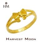 Harvest Moon 富家精品 黃金尾戒 愛蝴蝶結 9999 純金金飾 女尾戒子 黃金戒指 可調式戒圍 GR04102