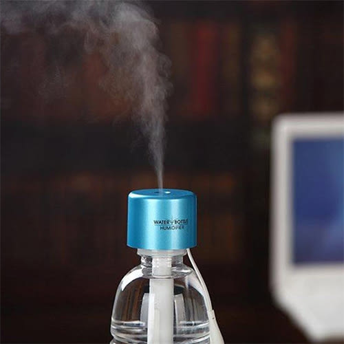 【Love Shop】二代水瓶蓋加濕器/靜音迷你USB加濕器 可攜式霧化加濕器 迷你噴霧器 創意新奇負離子
