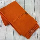 BRAND楓月 HERMES 愛馬仕 愛馬仕橘 橘色 拉鍊圍巾 100%喀什米爾 保暖 配件 冬季