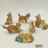 仿真小貓家居裝飾品擺件創意禮物可愛禮品樹脂動物貓咪工藝品擺設一隻裝 YXS街頭布衣