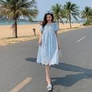洋裝短袖裙子S-XL鏤空蕾絲連身裙流行寬鬆氣質裙子T356-9368.胖胖唯依