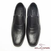 CUMAR超輕軟底舒適皮鞋-黑