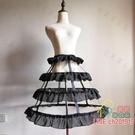 裙撐 鳥籠撐3層lolita魚骨鋼圈暴力裙撐鐘形撐A字鐘型撐洋裝標配荷葉邊-限時折扣