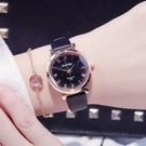 快速出貨 手錶手錶女簡約氣質復古中學生學院風小清新女孩少女星空網紅新款