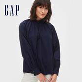 Gap女裝優雅氣質款長袖襯衫547676-海軍藍色