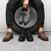 英倫時尚休閒男鞋 百搭學生尖頭皮鞋【五巷六號】x266