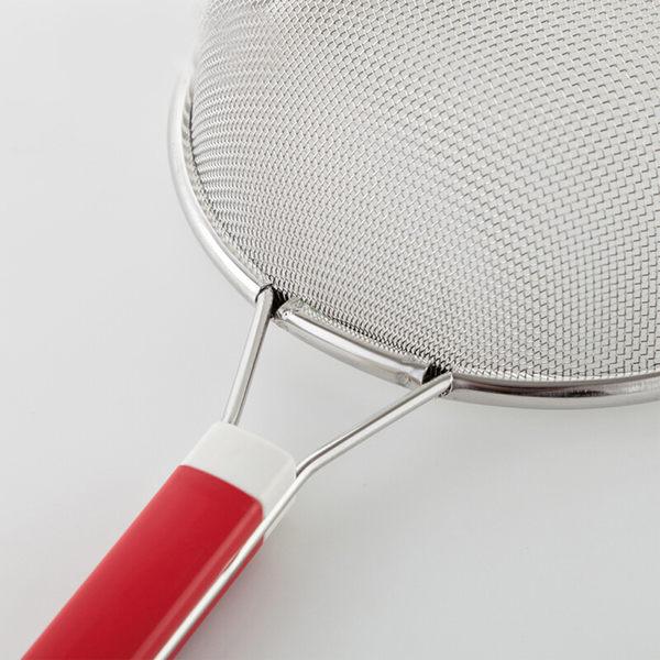 PUSH! 餐具廚房用品不銹鋼雙耳撈勺漏勺過濾網勺密網油撈勺(大號)D57