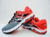 美津濃  MIZUNO 女慢跑鞋  WAVE SHADOW 2 WIDE (灰粉紅)  路跑鞋  J1GD183002【 胖媛的店 】