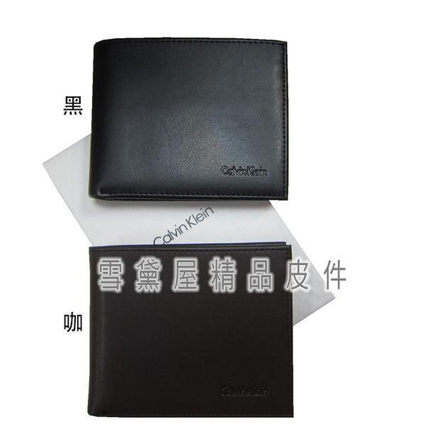 ~雪黛屋~CK 短夾正版保證進口防水防刮皮革標準尺寸活動型證件夾附品牌證明品牌高級禮盒K2272