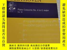 二手書博民逛書店beethoven罕見piano concerto no.4 in g major op.58Y28297
