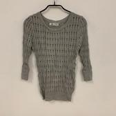 韓版顯瘦修身基本款針織上衣(F碼/121-4598)