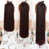假馬尾假髮馬尾辮子女生中長短款直髮自然逼真綁帶式假髮尾一片式接髮片 免運商品