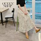Queen Shop【03020536  】水墨印花雪紡長裙售 *現+預*