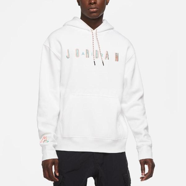 Nike 長袖T恤 Jordan Sport DNA 白 粉 男款 喬丹 帽T 運動休閒 【ACS】 CK9568-100