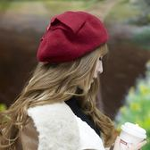 韓版帽子女秋貝雷帽潮純羊毛呢保暖女帽空姐帽畫家帽優家小鋪